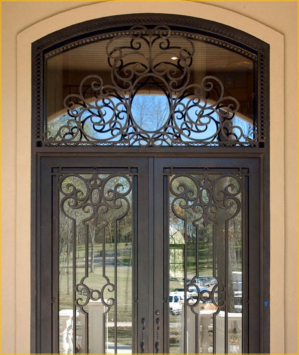Ornamental Wrought Iron Entry Door